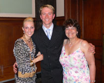Two of the stars from Strictly Come Dancing - Ian Waite & Camilla Dallerup with Jeannie Clark at Torquay Town Hall 2006